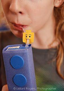 juice boxes made to look like lego bricks