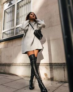 Stylish outfit idea to copy ♥ For more inspiration join our group Amazing Things ♥ You might also like these related products: - Sweaters ->. Mode Outfits, Stylish Outfits, Fall Outfits, Fashion Outfits, Fashion Ideas, Trendy Dresses, Fashion Clothes, Affordable Dresses, Stylish Clothes