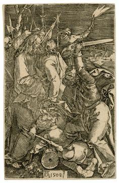 Albrect Durer, Betrayal Of Christ Antique Copper Engraving Wall Art For Sale, Old Master, Antique Prints, Rembrandt, Antique Copper, Betrayal, 18th Century, Buy Art, Christ