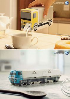 clever ambient idea: Volkswagen Trucks - for any kind of food