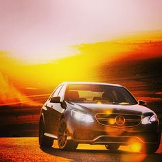 The sun is going down earlier and earlier these days. We don't mind. #E63 #AMG #mercedes #benz #instacar