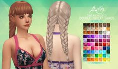 Aveira Sims 4: Double Threat Braids - Recolor • Sims 4 Downloads