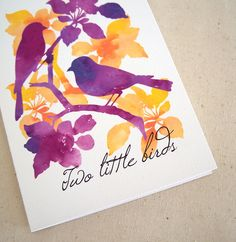 20 best bird greeting cards images on pinterest greeting cards two little birds greeting card handmade featuring original watercolour print 500 via etsy m4hsunfo