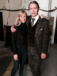 Mads Mikkelsen's last day of shooting Hannibal, Season 2, in a plaid suit and a velvet waistcoat, no less.