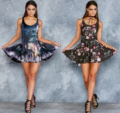 Rite And Seek Vs Garden Of The Dead Inside Out Dress - LIMITED ($170AUD) by BlackMilk Clothing