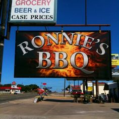 Ronnie's BBQ in Johnson City, TX is in the heart of the Texas hill country.