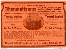 Original-Werbung/Inserat/ Anzeige 1902 : MITTEL GEGEN RHEUMATISMUS / THERMAL-CABINET ca. 190 x 130 mm