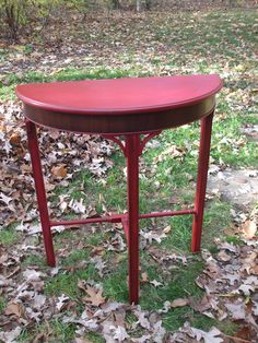 Tricycle Red Milk Painted Foyer Table