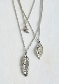 Earthy Delight Necklace. Be present with your lighthearted nature by picking this silver necklace to complete your look. #silver #modcloth