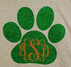 School spirit t-shirt, custom tshirt, Paw print t-shirt, teacher t-shirt,fan t-shirt, tiger fan shirt, panther fan t-shirt,bulldog fan shirt by PamelaAnneCreations on Etsy