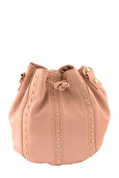 THREE LINED STUD BUCKET BAG #wholesale #fall #bags #purse #sorbet #accessories #handbag #clutch #fashion #clothing #ootd #wiwt #shopitrightnow
