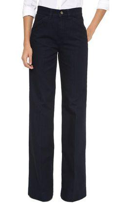 Victoria Beckham Wide Leg Jeans // shopbop