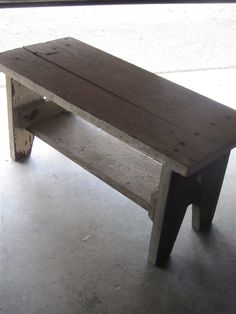 Would be a good design for a rustic garden seat, but the brace/shelf below the seat needs to be attached above the side support, not below.