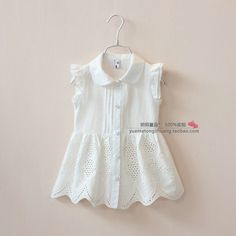 Cheap Blouses & Shirts on Sale at Bargain Price, Buy Quality blouse slips, blouse lace, clothing blouse from China blouse slips Suppliers at Aliexpress.com:1,Brand Name:new brand 2,Sleeve Length:Short 3,Gender:Girls 4,Style:Fashion 5,Fabric Type:Broadcloth Easter Dresses For Kids, Little Girl Dresses, Girls Dresses, Baby Frocks Designs, Kids Frocks Design, Baby Girl Shirts, Shirts For Girls, Girls Lace Dress, Baby Dress