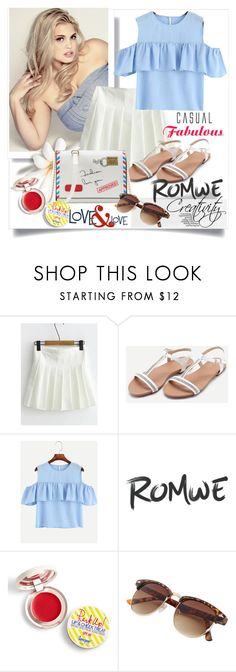 """ROMWE 3/3"" by creativity30 ❤ liked on Polyvore featuring Supergoop!"