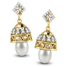 Serene Pearl Drop Jhumkas by Caratlane, http://www.snapdeal.com/product/serene-pearl-drop-jhumkas-by/1049673128