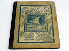1883 New Eclectic Completed Geography Van Antwerp #antique #geography #maps #history #cartography