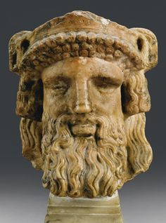 A Colored Marble Herm Head of Dionysos, Roman Imperial, 1st/2nd Century A.D.   Lot   Sotheby's