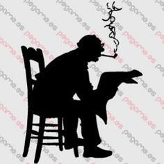 Pegame.es Online Decals Shop  #smoking #old #vintage #18th_century #gentleman #read #pipe #vinyl #sticker #pegatina #vinilo #stencil #decal