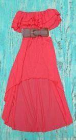 Gypsy High Low Dress With Belt $29.99