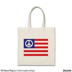 US Peace Flag Tote Bag