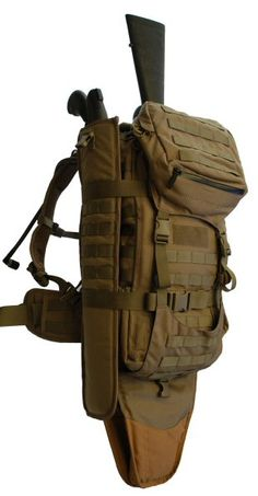 """Bug out Bag"" - Eberlestock ""Gunslinger II"" Pack. http://activelifeessentials.com/survival-essentials/eberlestock-gunslinger-ii-backpack-coyote-brown/ #survival #backpacks"