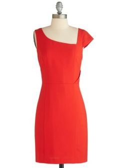 Angular Intrigue Red Dress