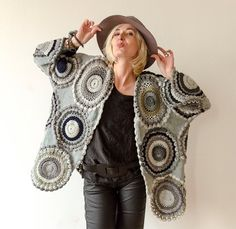 Talla grande ropa Gray Plus tamaño chaqueta  hecho a pedido