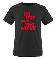 Comedy Shirts - DO LESS WITH MORE FOCUS - children T-Shirt camiseta - negro / rojo tamaño 110-116 #camiseta #starwars #marvel #gift