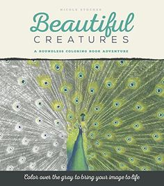 Coloring over the gray in this elegant grayscale adult coloring book will magically bring the illustrations of these animals to life. Featuring 48 images of creatures of all kinds, Beautiful Creatures: A Grayscale Adult Coloring Book of Animals by Nicole Stocker is a treasure for animal lovers and adults who have rediscovered their love of coloring.    Using the gray as your guide, even beginning colorists will feel like accomplished illustrators as they watch the animals on each page burst…