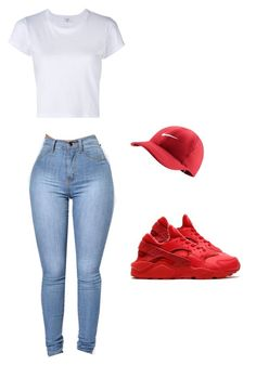 """Untitled #508"" by tdgaaf on Polyvore featuring NIKE and RE/DONE"