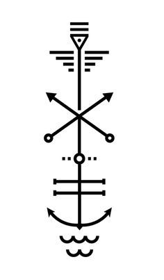 geometeic nautical tattoo - Google Search