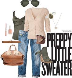 Preppy Little Sweater, created by colorware on Polyvore