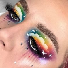 Fantasy James Charles Palette - - My list of the most creative makeup secrets Makeup Eye Looks, Eye Makeup Art, Beautiful Eye Makeup, Colorful Eye Makeup, Crazy Makeup, Cute Makeup, Colorful Eyeshadow, Eyeshadow Makeup, Eyeliner