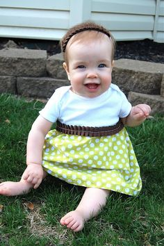 what a cute baby onesie dresses easy DIY