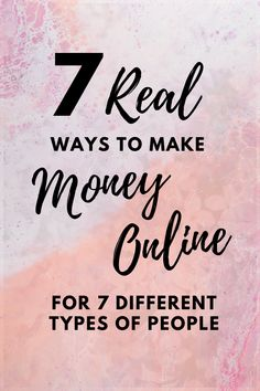 There's a lot of ways to make money online, but not all of them are going to suit your needs and situation. Here's 7 legitimate ways to make money online for 7 different types of people in 7 different situations. From the inexperienced, the broke, the desperate and more. Check the list out and tell me what you think. #onlineincome #makemoney #moneyonline #legitimate #workfromhome #workonline