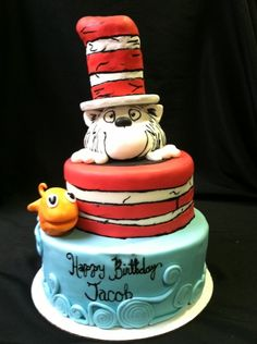Cat and the Hat birthday cake!