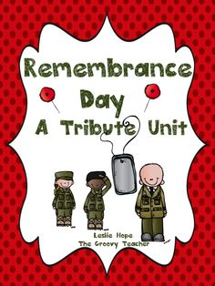 Help your kids learn more about this important day. This Remembrance Day Unit includes:a read aloudremembering the minute of silencebrave war a. Remembrance Day Activities, Plan Canada, Remembrance Day Poppy, Teacher Lesson Plans, Anzac Day, Math Art, First Grade Classroom, Language Activities, School Holidays
