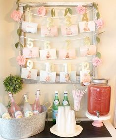 Trendy Baby Girl Birthday Theme Pink And Gold Party Ideas Gold First Birthday, Baby Girl 1st Birthday, 1st Birthday Parties, Birthday Ideas, Pink And Gold Birthday Party, 1 Year Birthday, Birthday Drinks, 21 Bday Ideas, First Birthday Decorations Girl