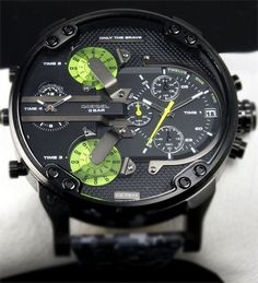 The Diesel is one complicated watch. watch for a man, diesel watch Dream Watches, Men's Watches, Luxury Watches, Cool Watches, Fashion Watches, Wrist Watches, Fancy Watches, Expensive Watches, Casual Watches