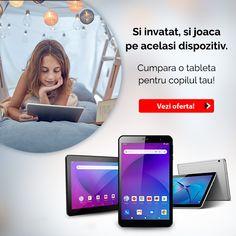 Device-ul perfect pentru invatat si pentru joaca! Cumpara-i copilului tau o tableta Laptops, Electronics, Phone, Telephone, Laptop, Mobile Phones, The Notebook, Consumer Electronics, Notebooks
