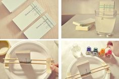 Como fazer cartão de visitas e outros com estampa aquarelada - Dica de artesanato fácil para colorir e personalizar ~ VillarteDesign Artesanato
