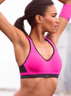 Victoria's Secret Incredible By Victoria Secret Sport Bra in Pink (neon pink) - Lyst