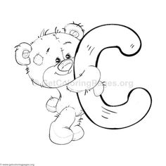 Printable Alphabet Coloring Pages Collection. Well, what do you think about alphabet coloring pages? Before recognizing it more, let's check what alphabet is! Letter C Coloring Pages, Train Coloring Pages, Preschool Coloring Pages, Bear Coloring Pages, Coloring Pages To Print, Coloring Sheets, Coloring Books, Bubble Letters Alphabet, Flower Alphabet