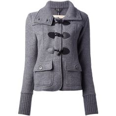 BURBERRY BRIT knit duffle coat