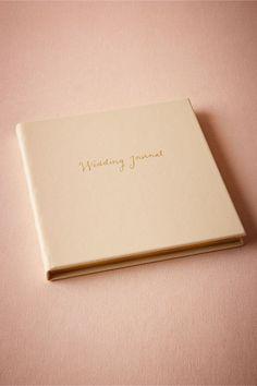 Gold Scripted Wedding Journal