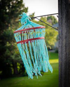 Kids Yarn Chandelier Craft