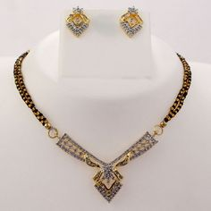 Polished Mangalsutra Necklace Set