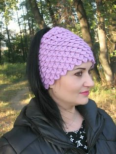 1aa4ed73215 crochet hat mom messy hat Crochet Ponytail Beanie Bun cap dragon scales  crocodile scales winter women s hat for her handmade READY SHIP