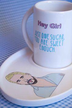 Ryan Gosling Tea Set because, Ryan Gosling.